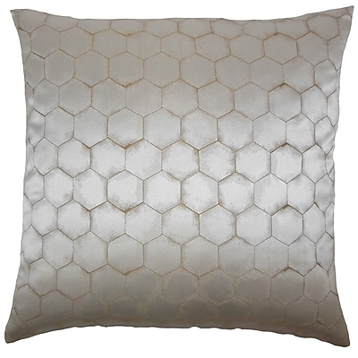The Pillow Collection Balint Solid Throw Pillow; 18'' x 18''