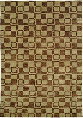Wildon Home Minh Hand-Knotted Gold/Brown Area Rug; 11' x 16'