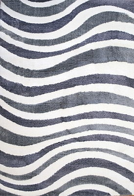 Dynamic Rugs White/Gray Area Rug; Rectangle 6'7'' x 9'6''