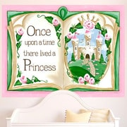 GreenBox Art ''Once Upon a Time Storybook'' by Sherri Blum Wall Mural; Pink