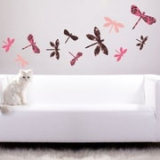 Style and Apply Colorful Dragonflies Wall Decal; 24'' H x 24'' W