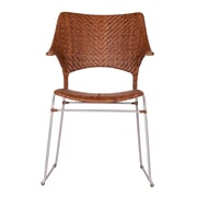 David Francis Furniture Zen Osaka Dining Arm Chair; Pecan