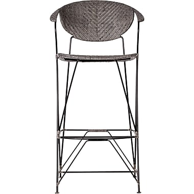 David Francis Furniture Zen Bar Stool; Rubbed Gray