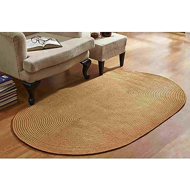 Better Trends Country Braided Straw Area Rug; 8' x 11''