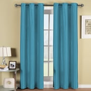 ELEGANT COMFORT Blackout Curtain Panels (Set of 2); Blue