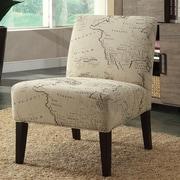 A&J Homes Studio Avalon Map Slipper Chair