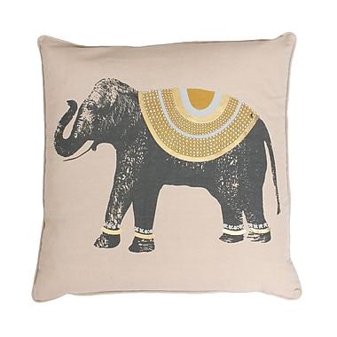 Thro by Marlo Lorenz Ezra Elephant Throw Pillow; Honey / Gold