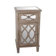Privilege 1 Drawer 1 Door Mirrored Accent Stand
