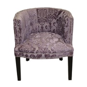 HD Couture Bohemian Plum Fan Damask Barrel Chair