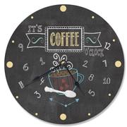 Stupell Industries 12'' It's Coffee Chalkboard Vanity Clock