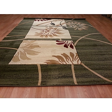 Rug Tycoon Hand-Carved Green/Beige Area Rug; Runner 2'7'' x 9'10''
