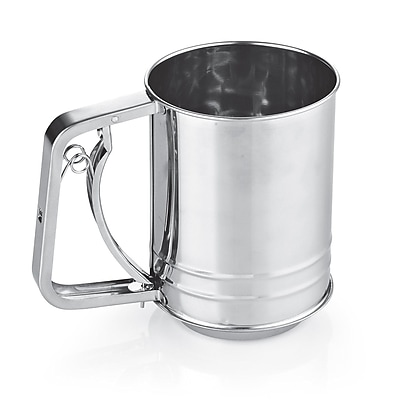 Cook N Home Stainless Steel 3-Cup Flour Sifter WYF078278289276