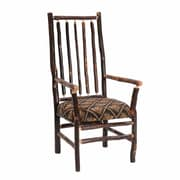 Fireside Lodge Hickory High Back Spoke Back Fabric Armchair