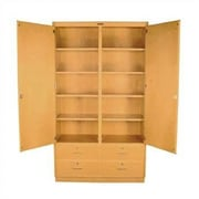 Shain 10 Compartment Classroom Cabinet w/ Drawers w/ Doors