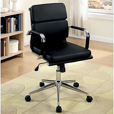A&J Homes Studio Cancun Desk Chair; Black