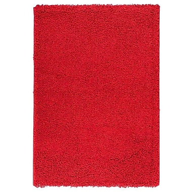 Berrnour Home Red Area Rug; 5' x 7'