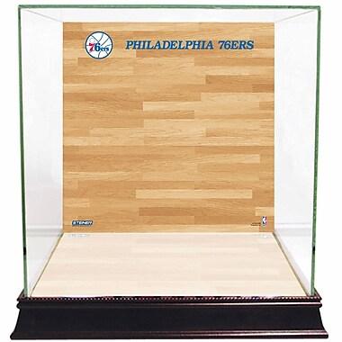Steiner Sports Basketball Court Background Case; Philadelphia 76ers