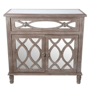 Privilege 1 Drawer 2 Door Mirrored Accent Cabinet