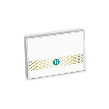 Viabella, 8 Pc, Boxed Initial Notes Lattice Initials B, Multicolor, 5.25