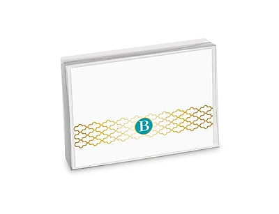 Viabella, 8 Pc, Boxed Initial Notes Lattice Initials B, Multicolor, 5.25