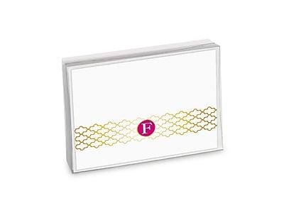 Viabella, 8 Pc, Boxed Initial Notes Lattice Initials F, Multicolor, 5.25
