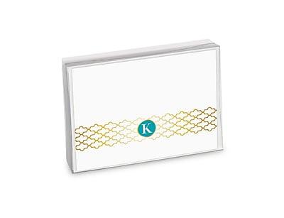 Viabella, 8 Pc, Boxed Initial Notes Lattice Initials K, Multicolor, 5.25