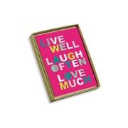 "Viabella, 10 Pc, Love Mother Earth Boxed Note Cards Live Laugh Love, Multicolor, 4"" x 5.25"", EA (17995)"