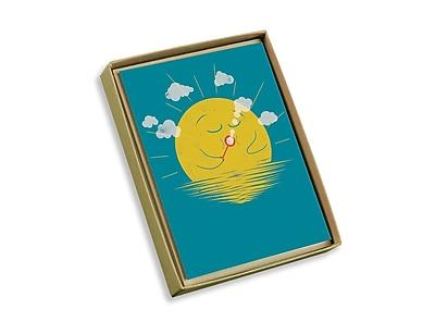 Viabella, 10 Pc, Love Mother Earth Boxed Note Cards Sun Blowing Bubbles, Multicolor, 4