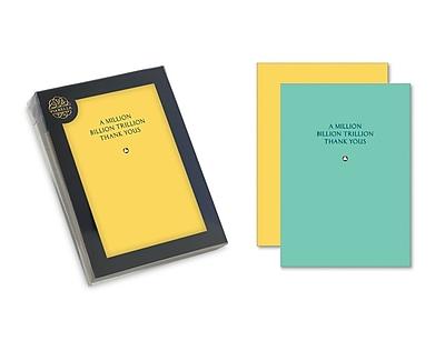 Viabella, 8 Pc, Solitaire Boxed Note cards Million Billion Trillion Thank Yous, Multicolor, 4