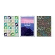 """Viabella, Masculine Themed Large Journal 3 Pc Assortment, Ruled, 8.5"""" x 5.75"""", Multicolor (93206)"""