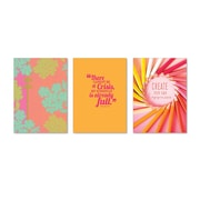 "Viabella, Calming Covers Large Journal 3 Pc Assortment, Ruled, 8.5"" x 5.75"", Multicolor (93207)"