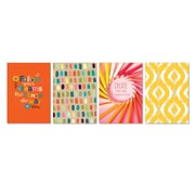 "Viabella, Colorful Gradients Small Journal 4 Pc Assortment, Ruled, 5.5"" x 4"", Multicolor (93210)"