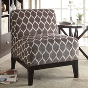 A&J Homes Studio Cecelia Accent Slipper Chair; Brown