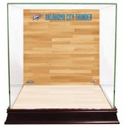 Steiner Sports Basketball Court Background Case; Oklahoma City Thunder