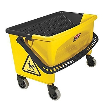 Rubbermaid Press Wring Microfiber Mop Bucket, 10.75 gal, Yellow (Q900-88)