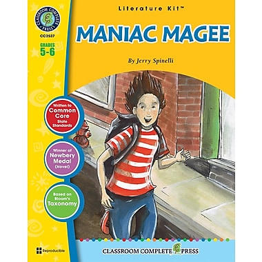 Livre numérique : Literature KitsMC – Maniac Magee, ressource pédagogique électronique, 5e-6e année, Classroom Complete Press