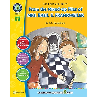 Livre numérique : Literature KitsMC – From the Mixed-Up Files of Mrs. Basil E. Frankweiler, ressource pédagogique, 5e-6e année