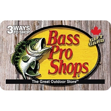 Bass Pro Shop – Carte-cadeau de 25 $