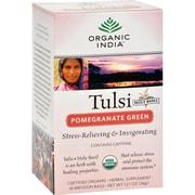 Organic India Tulsi Tea Pomegranate Green - 18 Tea Bags - Case of 6