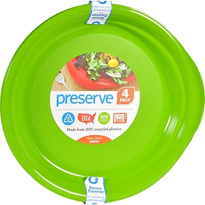 Preserve Everyday Plates - Apple Green - Case of 8 - 4 Pack - 9.5 in 2399181