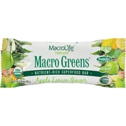 MacroLife Naturals Macro Green Bar - Apple Lemon - Case of 12 - 42 Grams