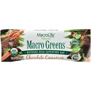 MacroLife Naturals Macro Green Bar - Chocolate Cinnamon - Case of 12 - 42 Grams