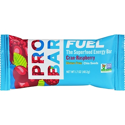Probar Fruition Organic Cranberry Raspberry Bar - Case of 12 - 1.7 oz