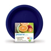 Preserve Small Reusable Plates - Midnight Blue - Case of 12 - 10 Pack - 7 in