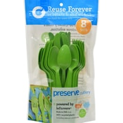 Preserve Reusable Cutlery Sets - Apple Green - Case of 12 - 24 Count