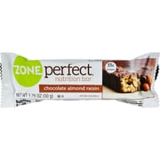 Zone Perfect Nutrition Bar, Chocolate Almond Raisin, 12/Pack, 1.76 oz