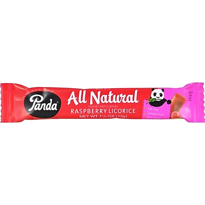 Panda Licorice Bars - Raspberry - Case of 36 - 1.125 oz