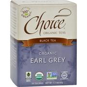Choice Organic Teas - Earl Grey Tea - 16 Bags - Case of 6