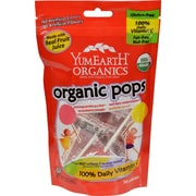Yummy Earth Organic Lollipops Assorted Flavors, 3 oz, Case of 6