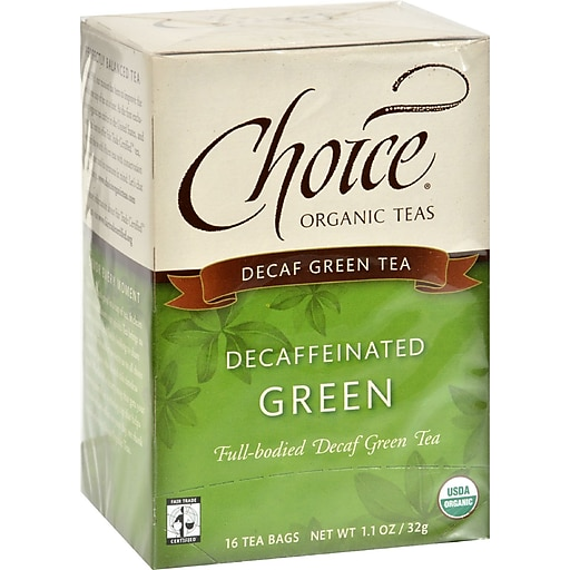 Choice Organic Teas Decaffeinated Green Tea Case Of 6 16 Bags